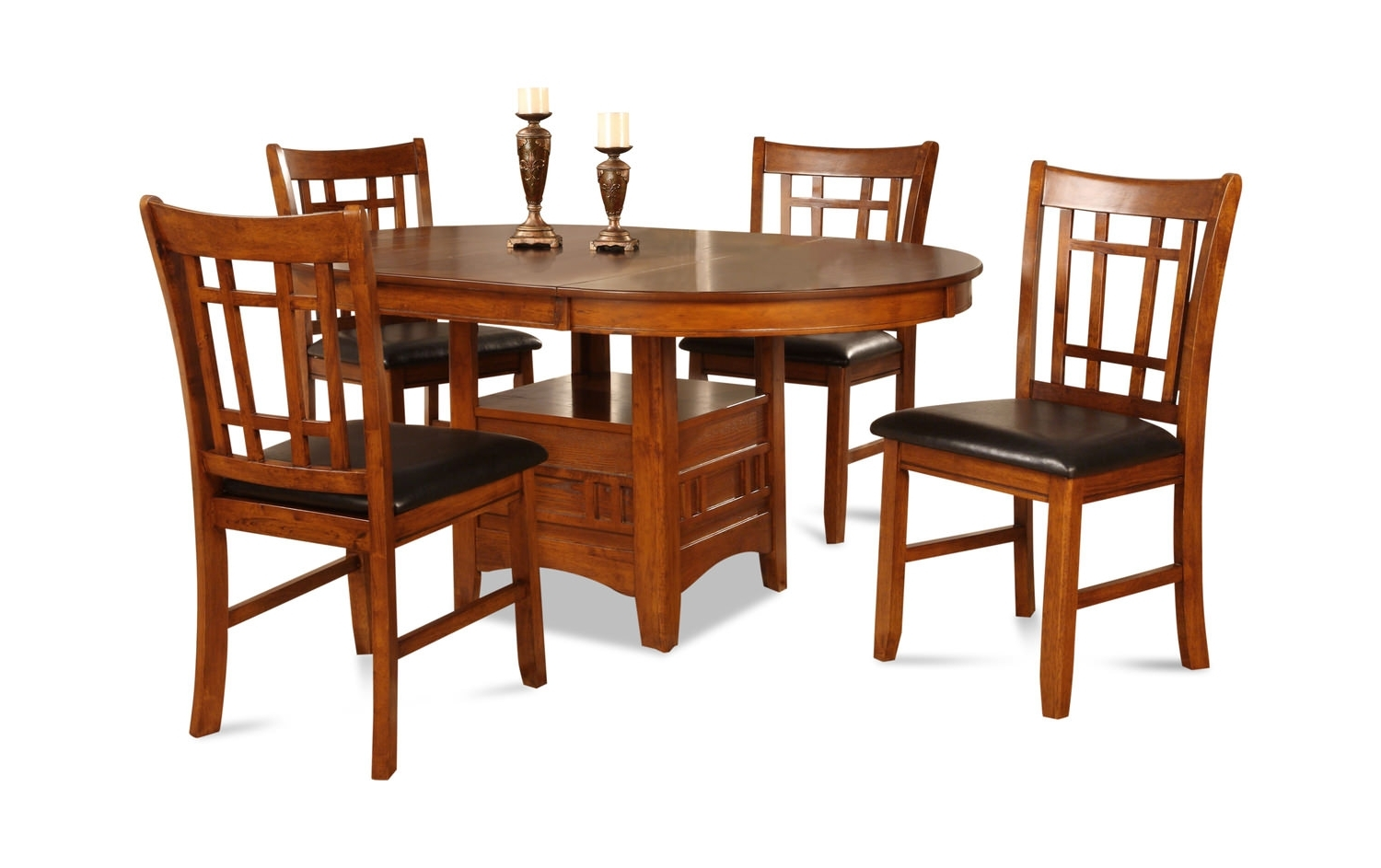 Dining Sets – Dining Room Tables & Chairs – Dock 86 Throughout Well Known Craftsman 5 Piece Round Dining Sets With Uph Side Chairs (View 17 of 25)