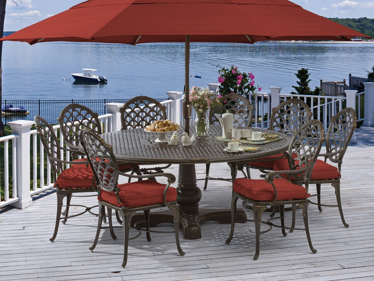 Dining Sets - Fortunoff Backyard Store regarding Well known Valencia 72 Inch 7 Piece Dining Sets