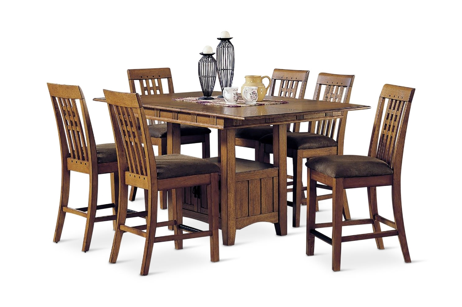 Dining Sets – Kitchen & Dining Room Sets – Hom Furniture Throughout Well Known Craftsman 7 Piece Rectangular Extension Dining Sets With Arm & Uph Side Chairs (View 11 of 25)