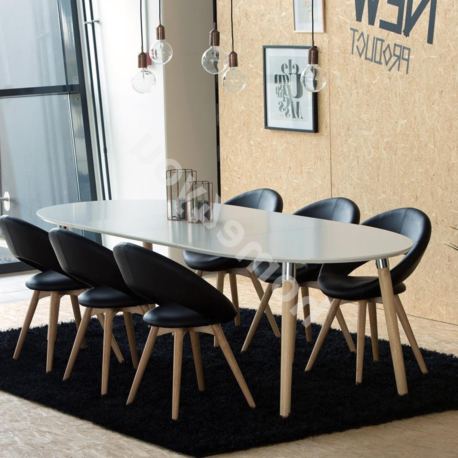Dining Table Belina 170/270X100Xh74Cm, Extendable, Table Top: Wood with Most Recently Released Dining Tables With White Legs And Wooden Top