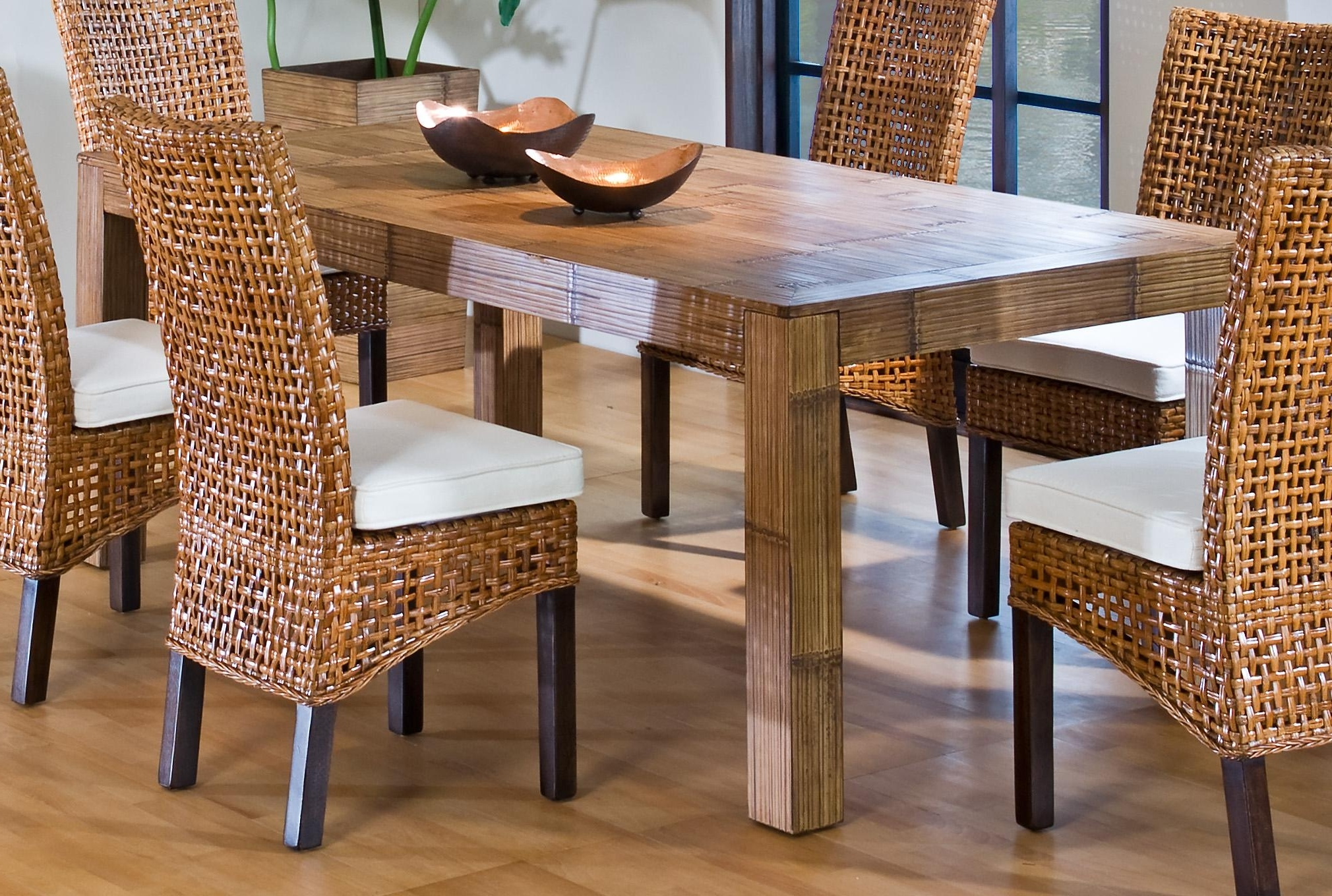 Dining Table Indoor Wicker Dining Table Dining Table And 8 Chairs Regarding Most Current Rattan Dining Tables (View 2 of 25)