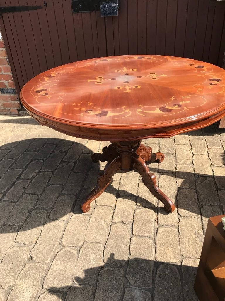 Dining Table – Italian Inlaid Rocco Style (View 4 of 25)