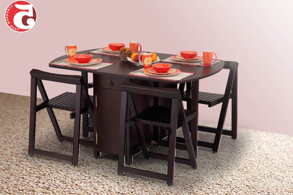 Dining Table Set For 4 Online Inside Best And Newest Indian Dining Tables (View 17 of 25)
