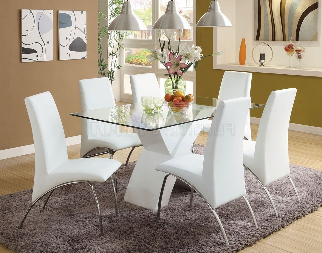 Dining Table Set White – Castrophotos Within Famous Smartie Dining Tables And Chairs (Gallery 21 of 25)