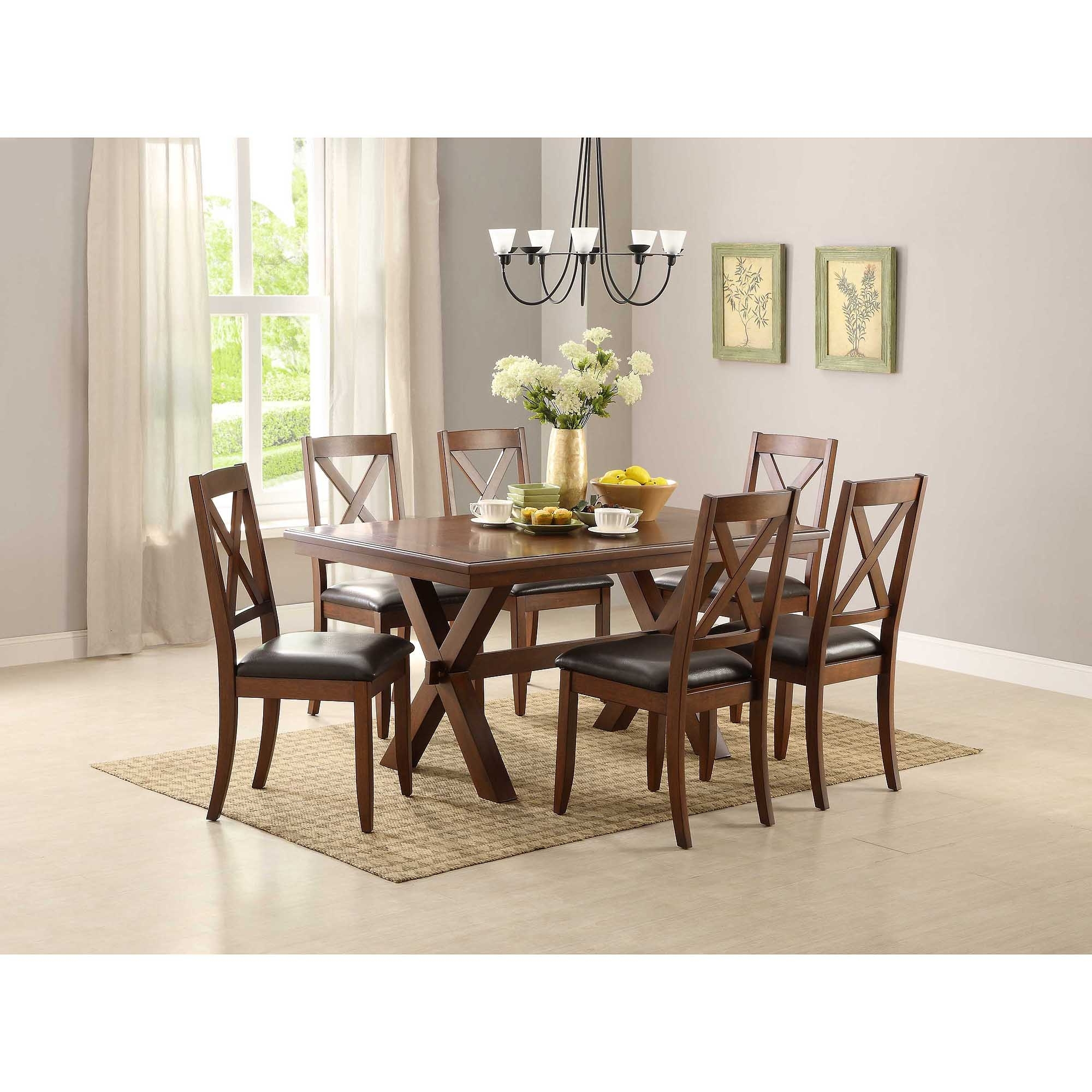 Dining Table Sets For 2 For Most Up To Date Better Homes & Gardens Maddox Crossing Dining Chair, Set Of 2, Brown (View 11 of 25)