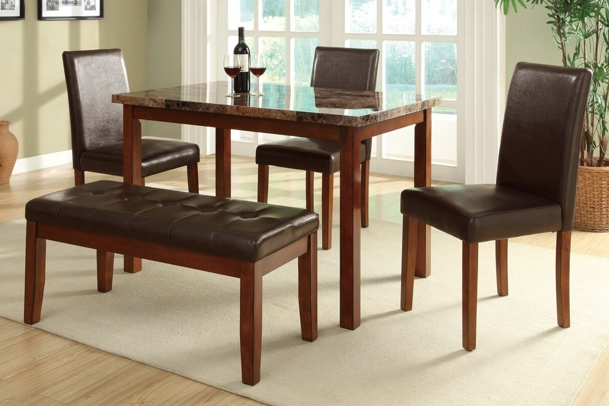 Dining Table Sets For 2 In Best And Newest 26 Dining Room Sets (Big And Small) With Bench Seating (2018) (Gallery 18 of 25)