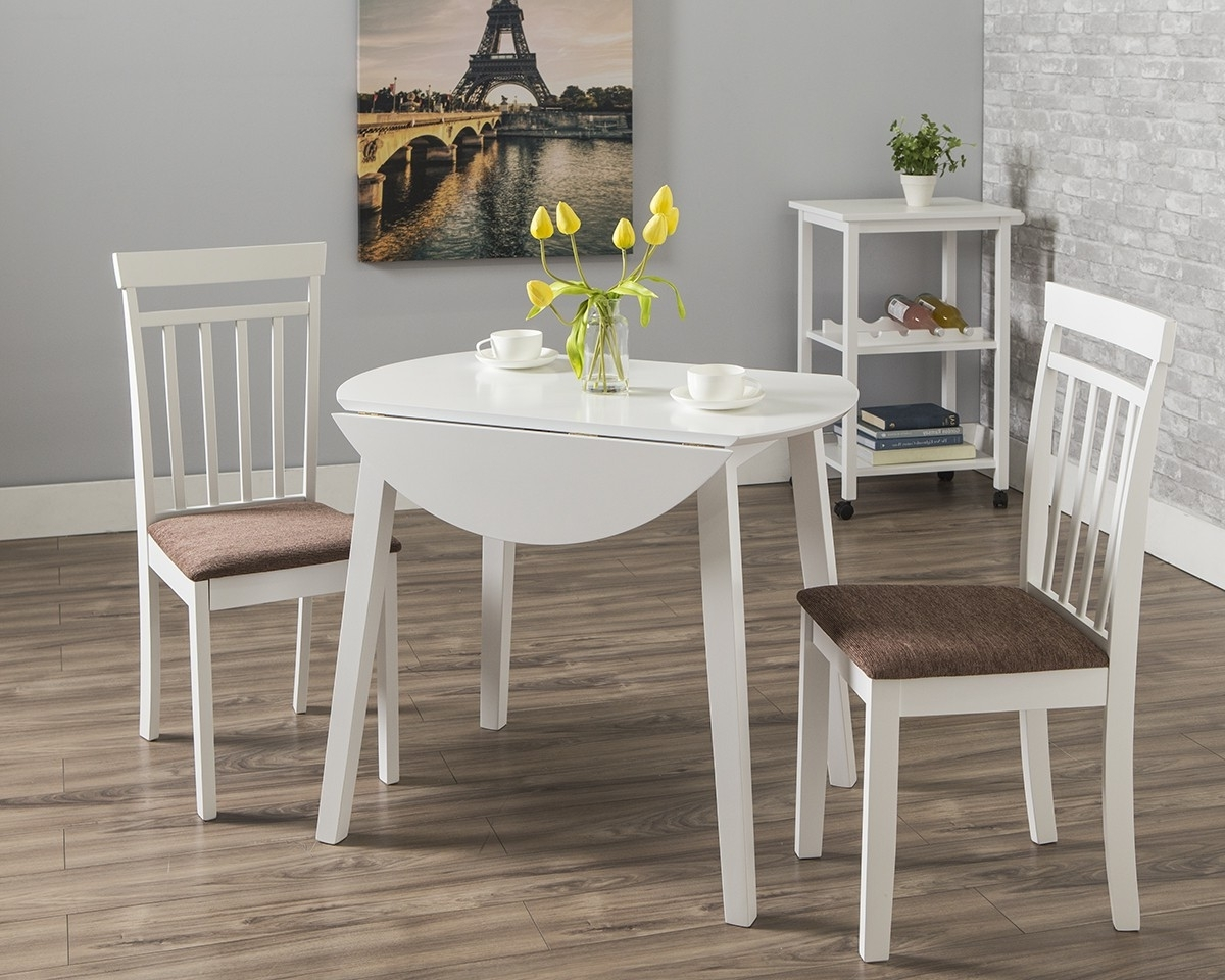 Dining Table Sets For 2 Regarding Best And Newest Axel Dining Table + 2 Axel Chairs (View 20 of 25)
