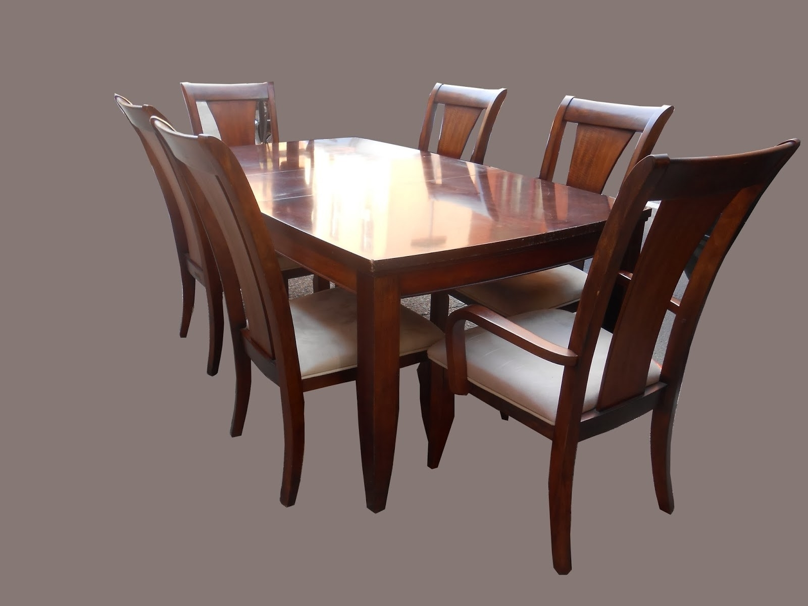 Dining Table Sets With 6 Chairs Awesome Uhuru Furniture Inside Most Current Mahogany Dining Tables Sets (View 6 of 25)