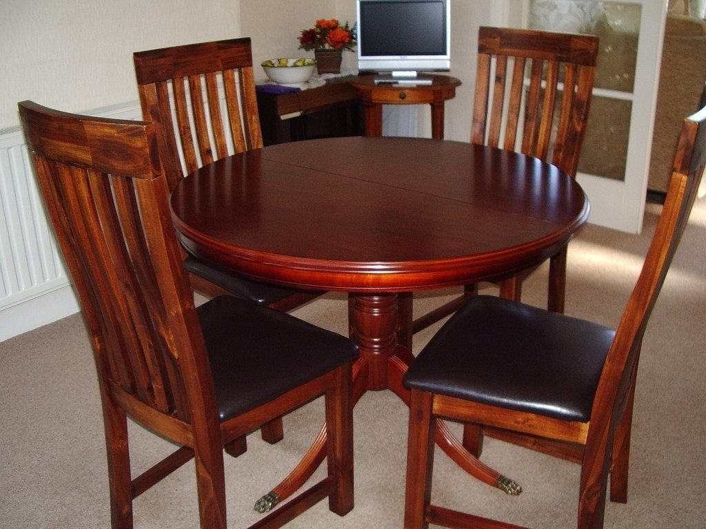 "Dining Table""morris Of Glasgow"" With Four Dining Chairs. (Gallery 22 of 25)"