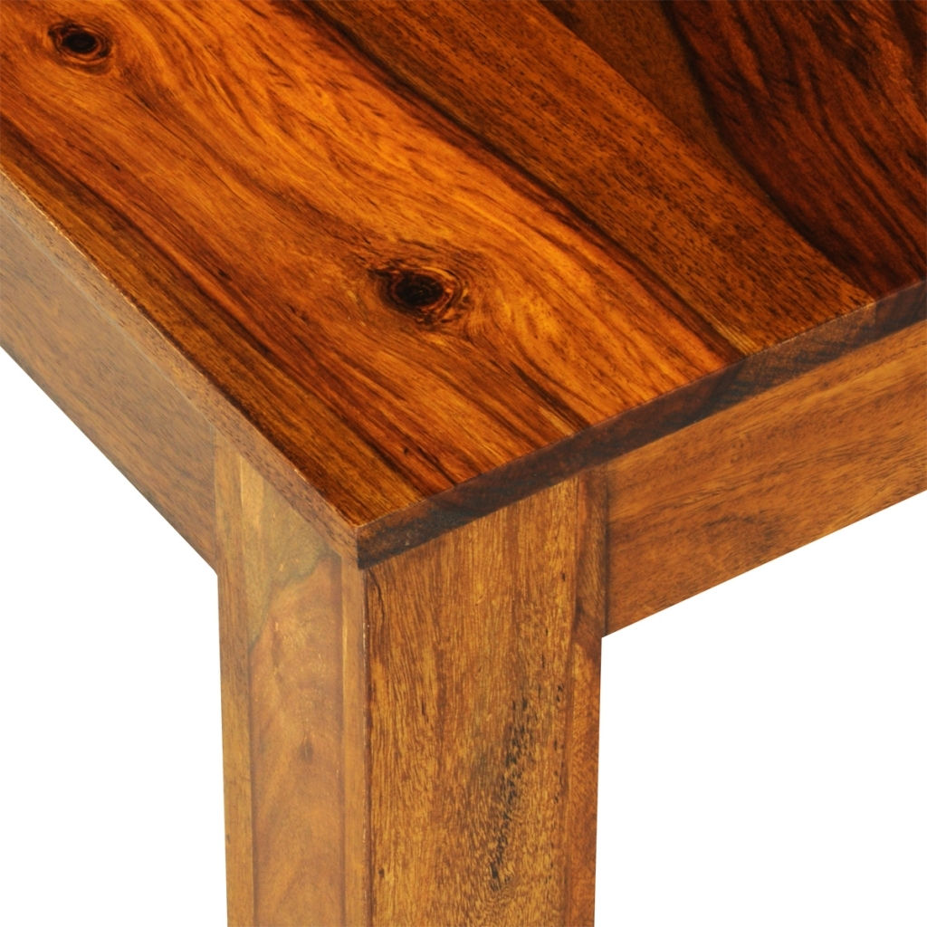 Dining Tables 120X60 Pertaining To Popular Wood Sheesham Solid Wood Dining Table 120 X 60 X 76 Cm – Lovdock (Gallery 38 of 44)