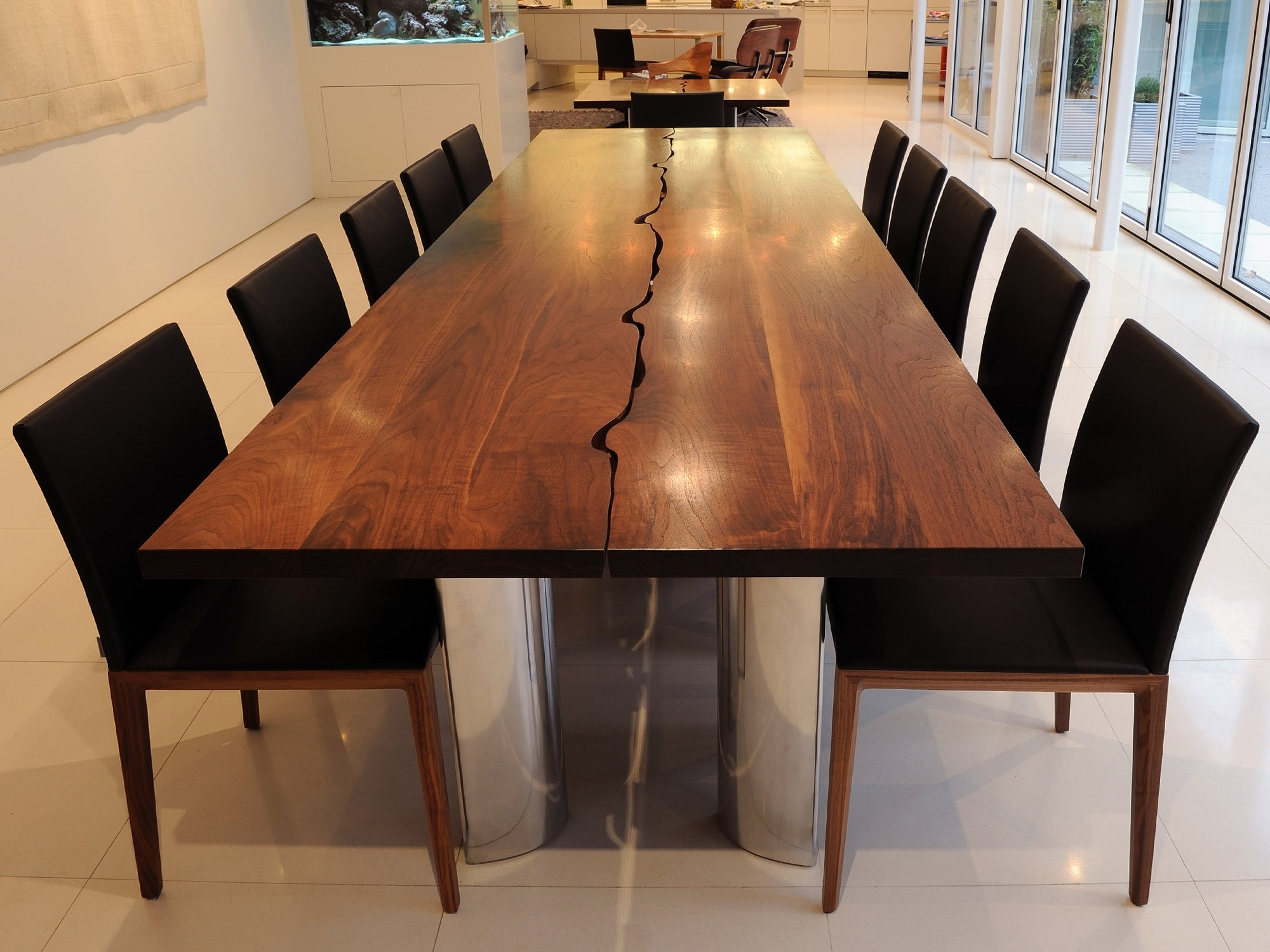 Dining Tables. Amazing Wood Dining Table Set: Wood Dining Table Set For Latest Dining Tables With Large Legs (Gallery 14 of 25)