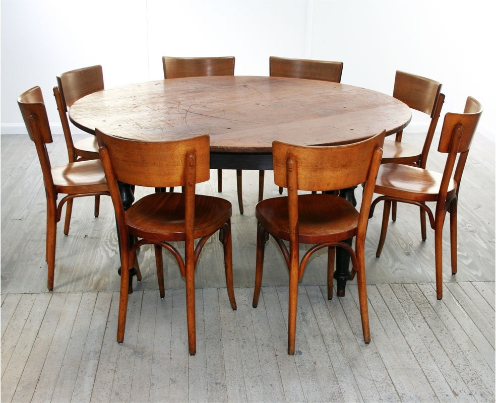 Dining Tables. Amusing 8 Person Round Dining Table: 8 Person Round Intended For Most Recently Released 6 Person Round Dining Tables (Gallery 3 of 25)