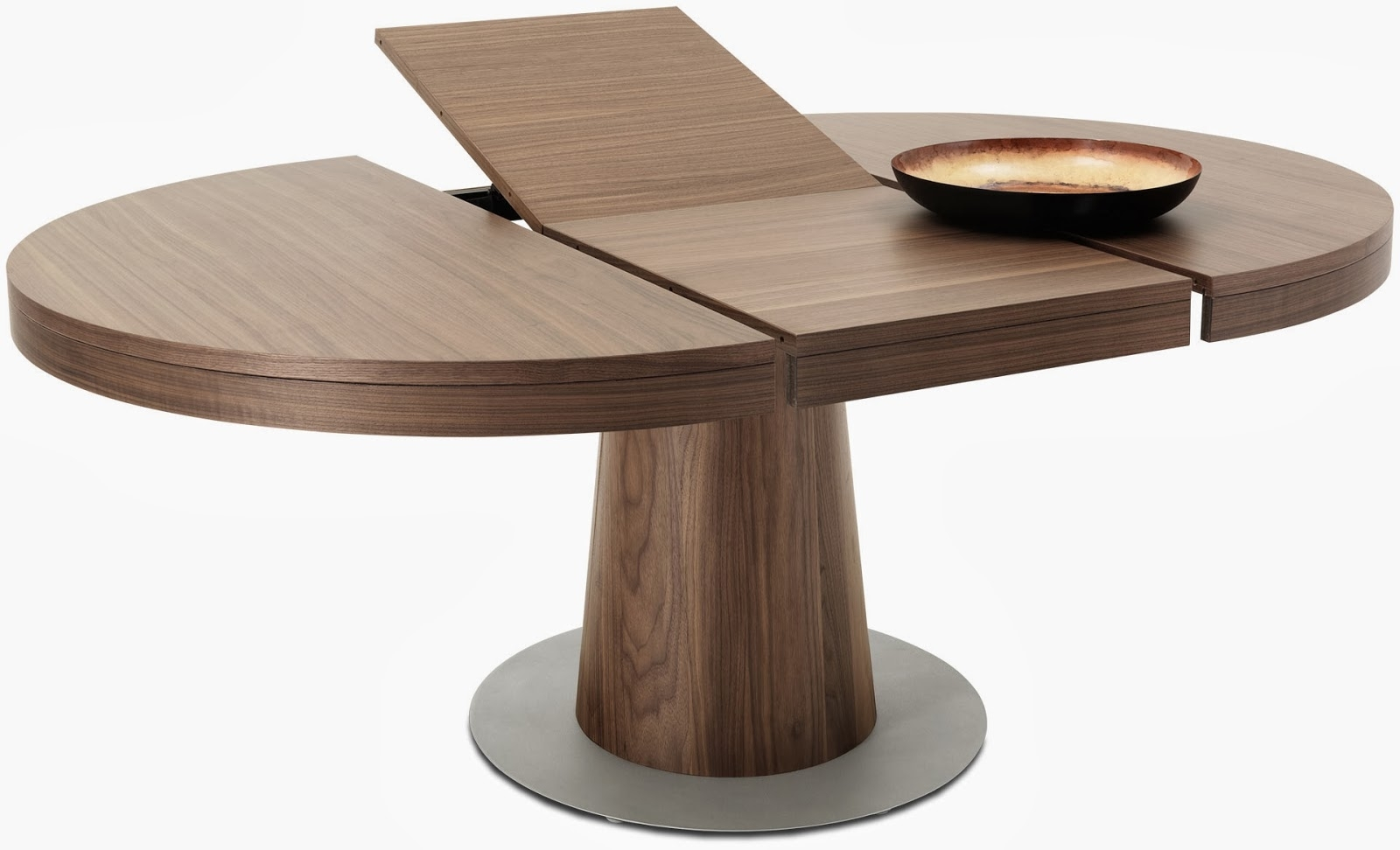Dining Tables: Amusing Round Extension Dining Table Wood Expandable For Famous Jaxon Grey Rectangle Extension Dining Tables (View 5 of 25)