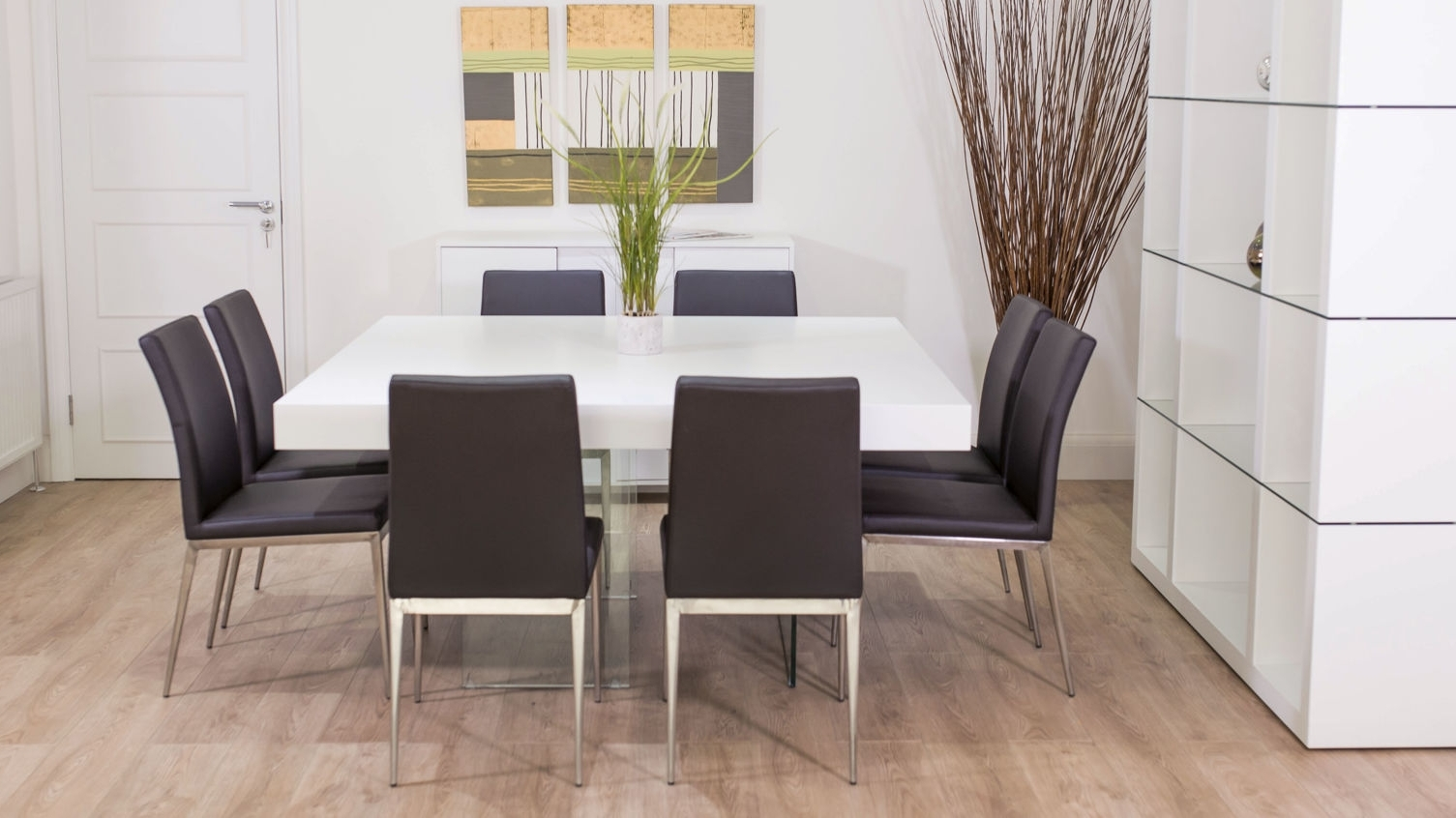Dining Tables. Amusing Square Dining Table Seats 8: Square-Dining intended for Preferred Dining Tables For Eight