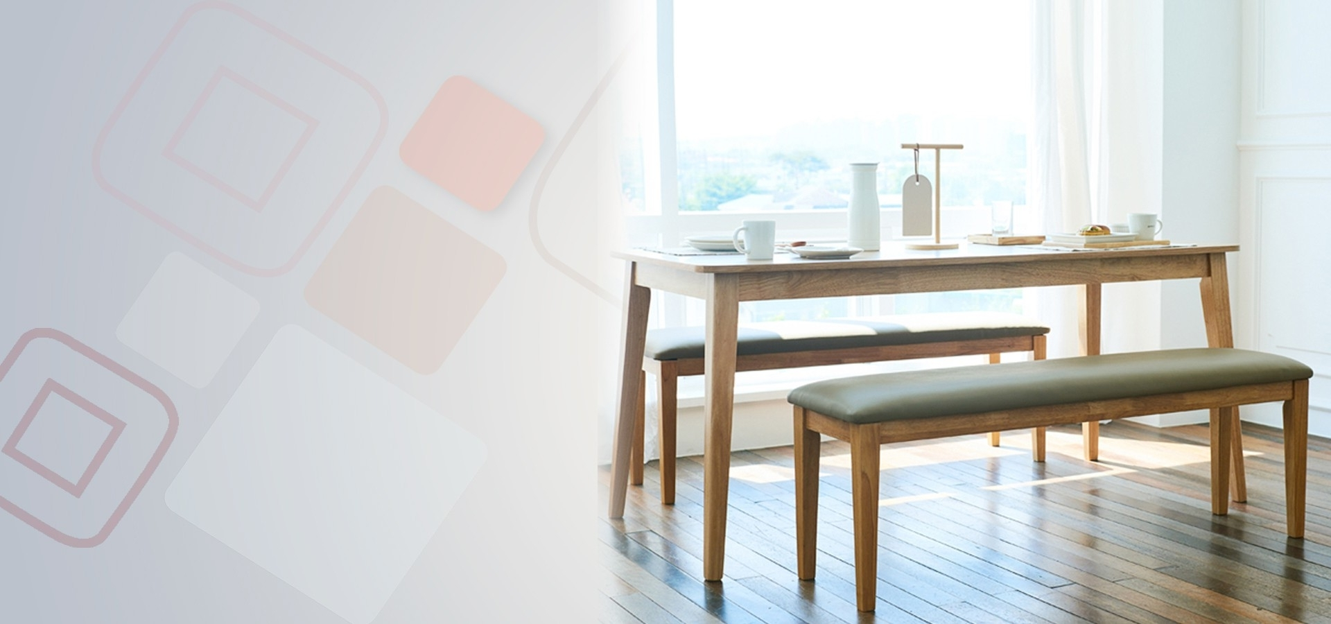 Dining Tables And 2 Benches In Current Kokoro Scandinavian 6 Seater Dining Set 2 (1600) (Table & 2 Benches (View 4 of 25)