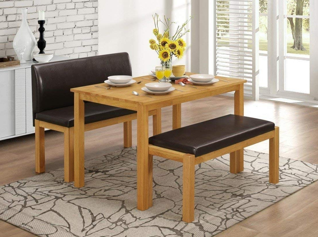Dining Tables And 2 Benches Inside Latest Hamra Bench Dining Set For Four People. Low And High Bench (View 23 of 25)