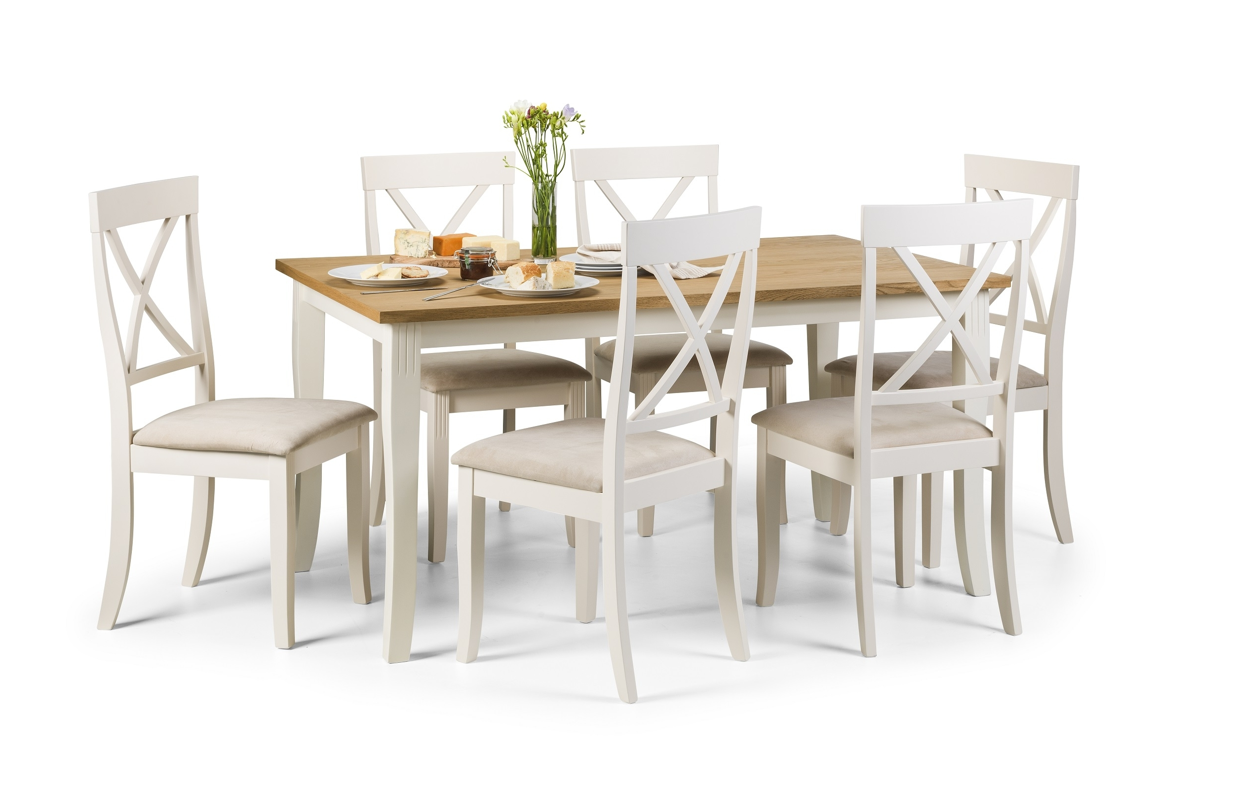 Dining Tables And 6 Chairs With Well Known Plymouth Dining Table + 6 Chairs – Thanet Beds (View 19 of 25)