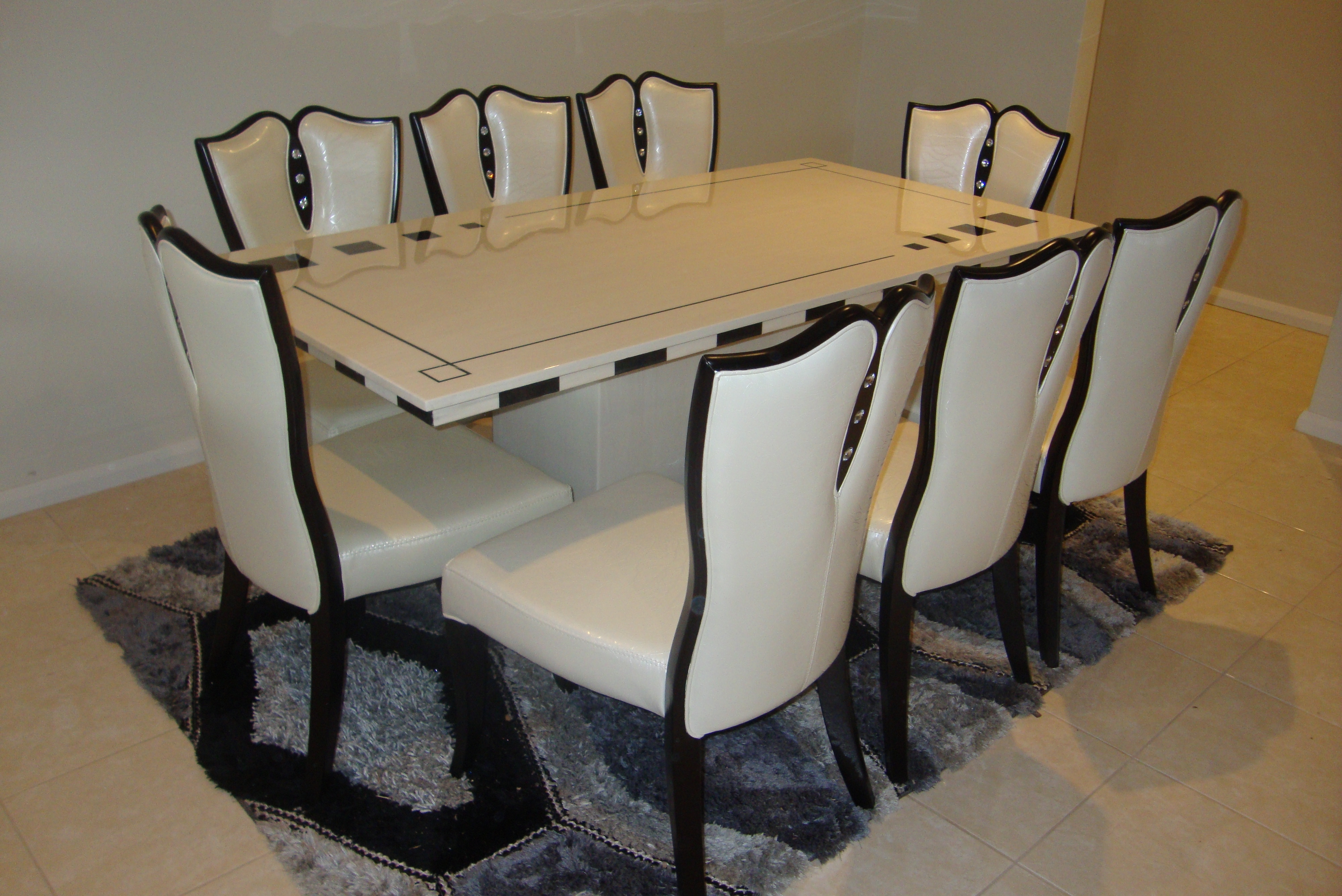 Dining Tables And 8 Chairs For Sale With Latest 26 Dining Table Set For 8, Marina Marble Dining Table With 8 Chairs (Gallery 6 of 25)