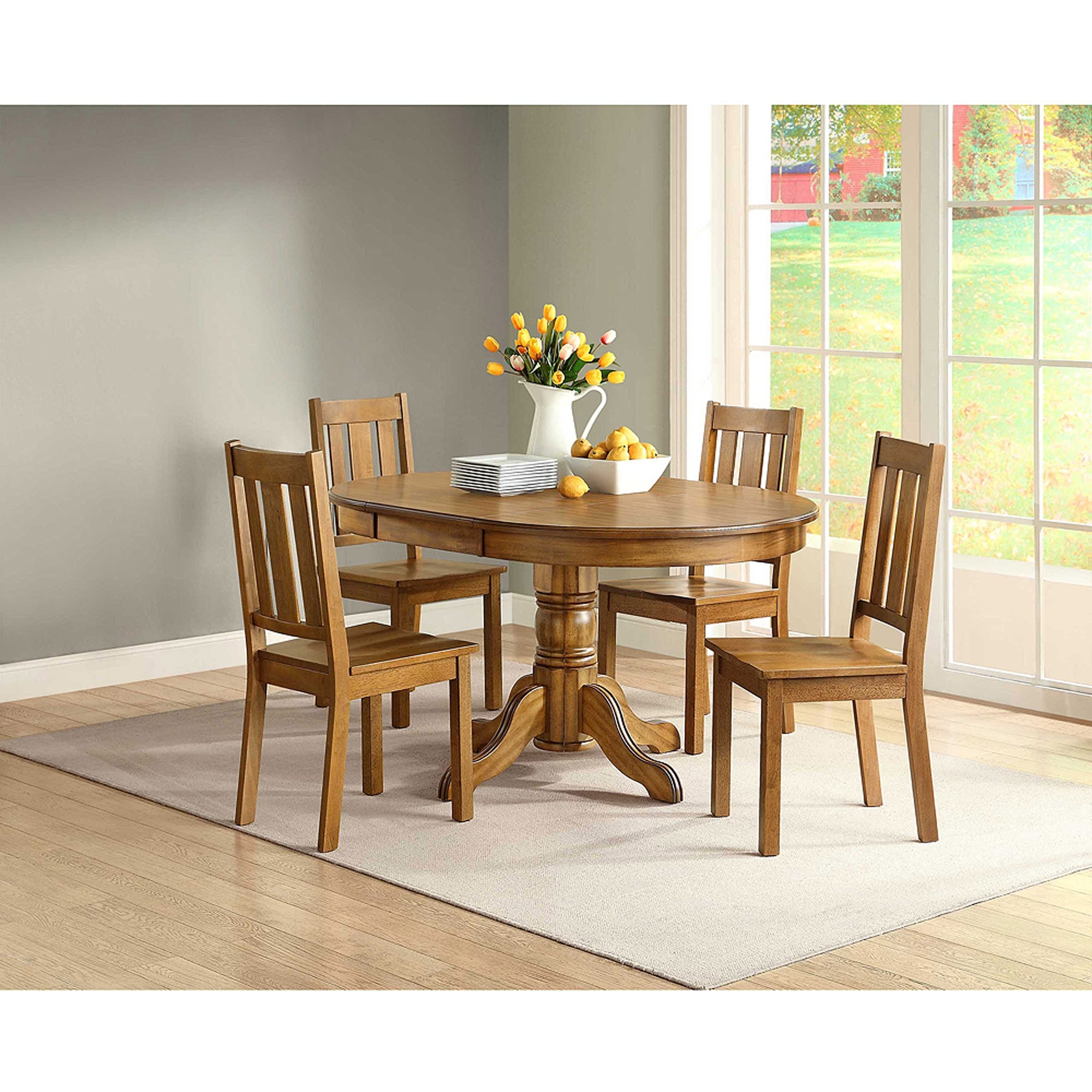Dining Tables And Chairs Sets With Most Recent Better Homes And Gardens Bankston Dining Chair, Set Of 2, Honey (Gallery 25 of 25)