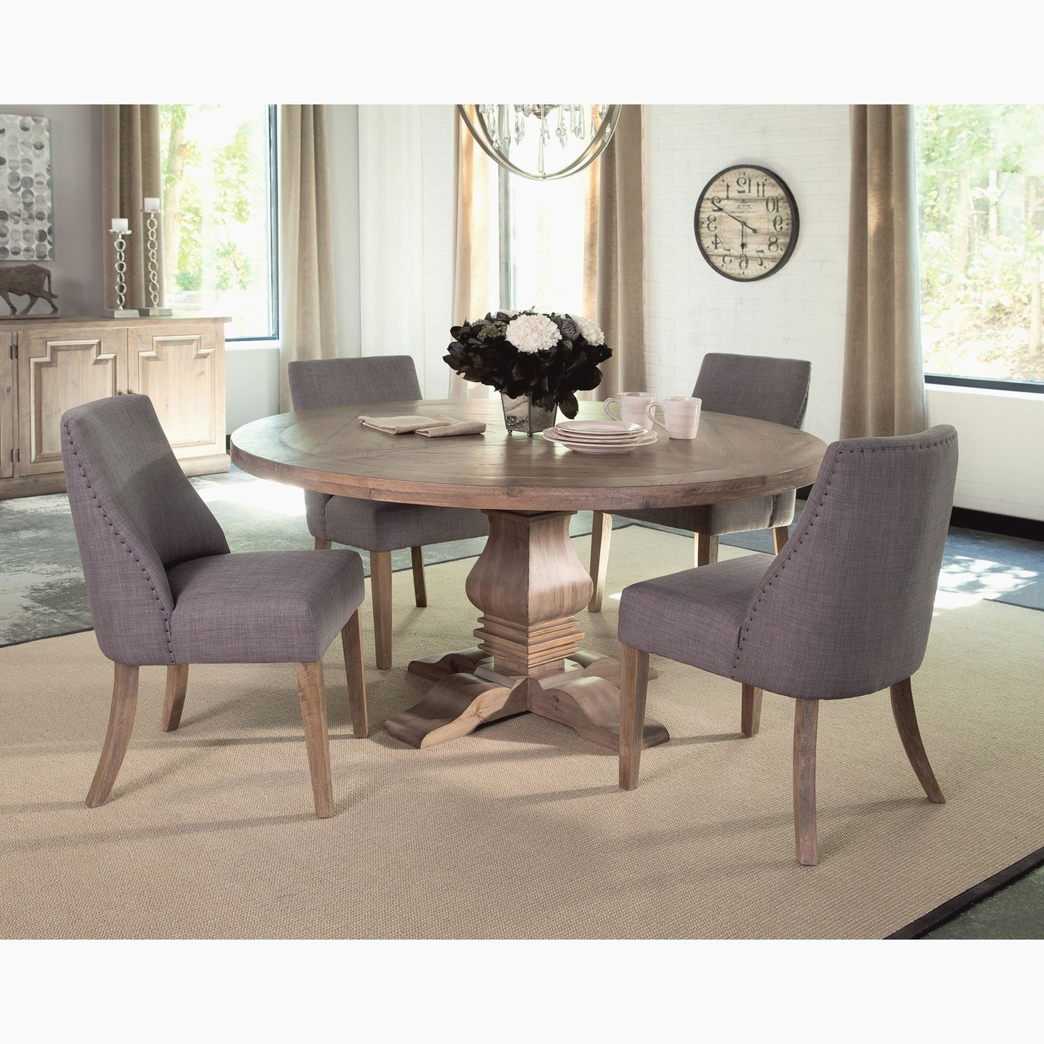Dining Tables And Purple Chairs Pertaining To 2018 Purple Dining Room Chairs Awesome Florence Pine Round Dining Table (View 13 of 25)