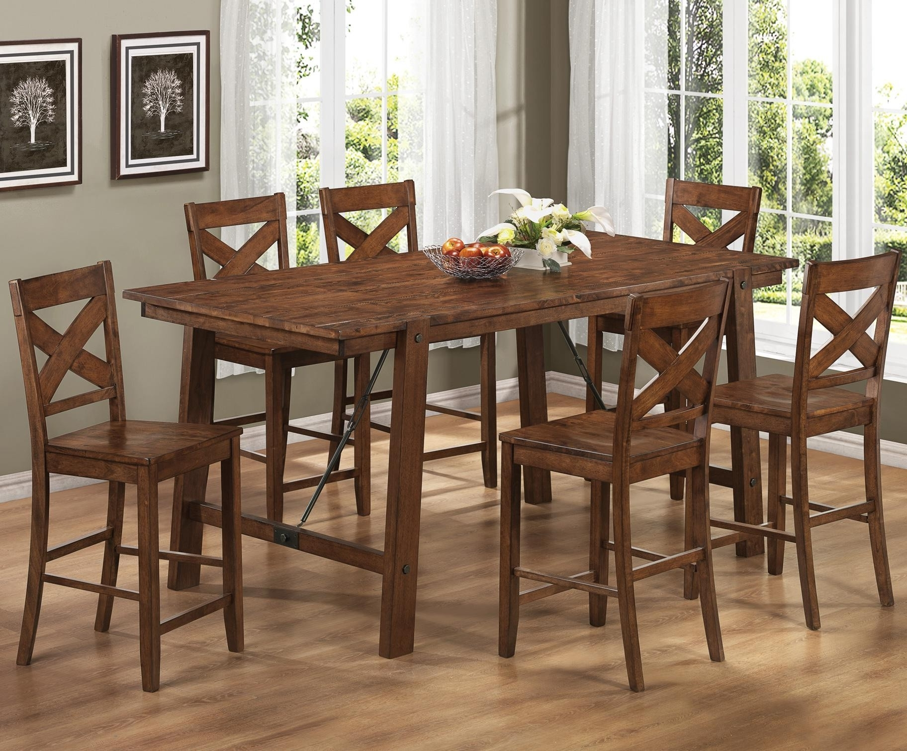 Dining Tables And Six Chairs with Trendy High Top Kitchen Table Sets Homesfeed, Kitchen Tables And Chairs