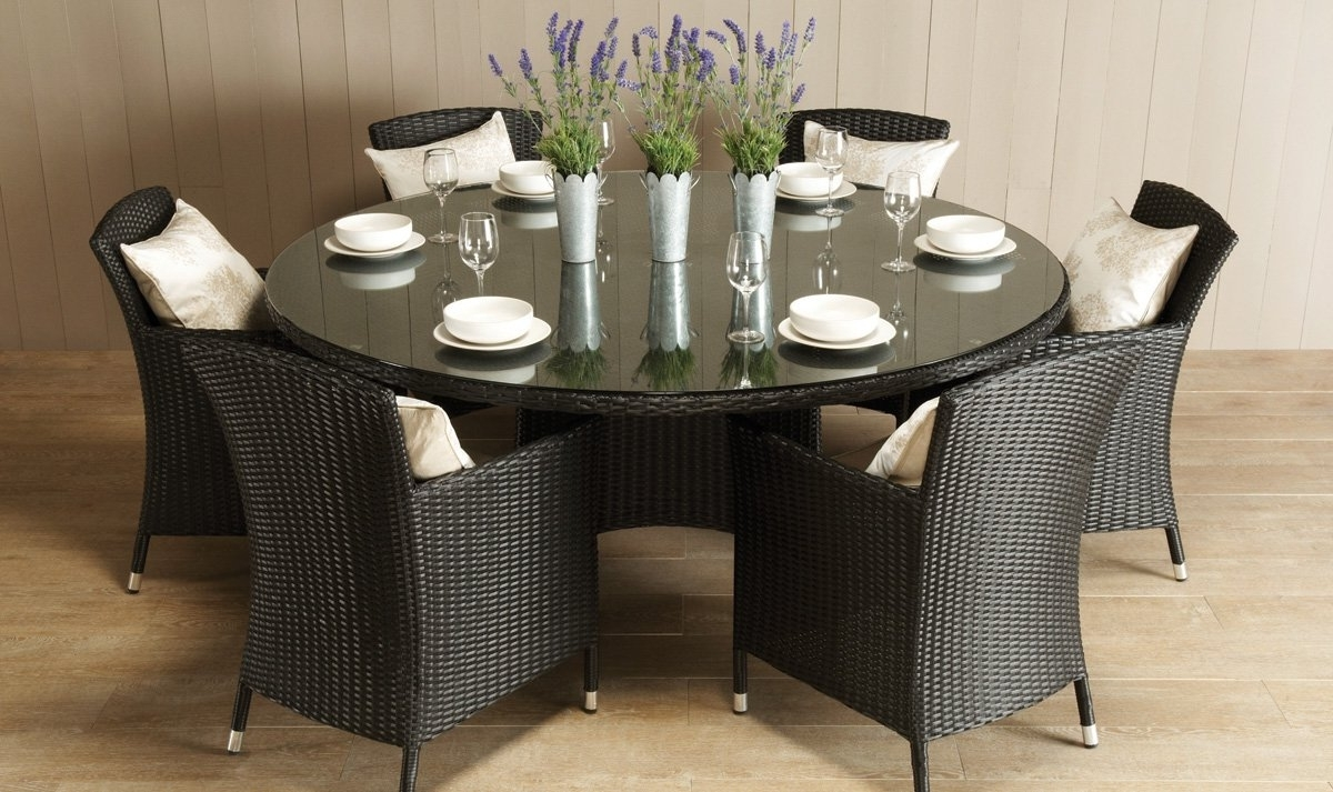 Dining Tables. Astonishing 6 Seat Round Dining Table: Glamorous-6 regarding Most Recent Round 6 Person Dining Tables
