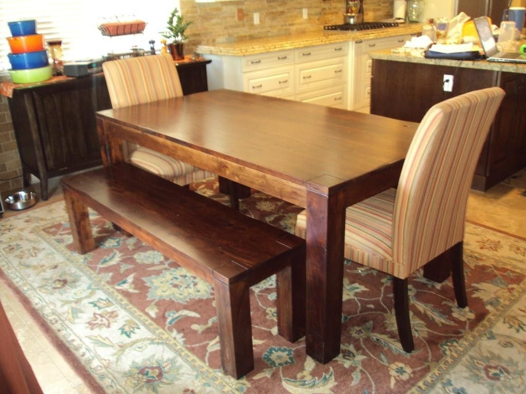 Dining Tables Bench Seat With Back With Well Known Dining Table Bench Seat With Back (View 15 of 25)