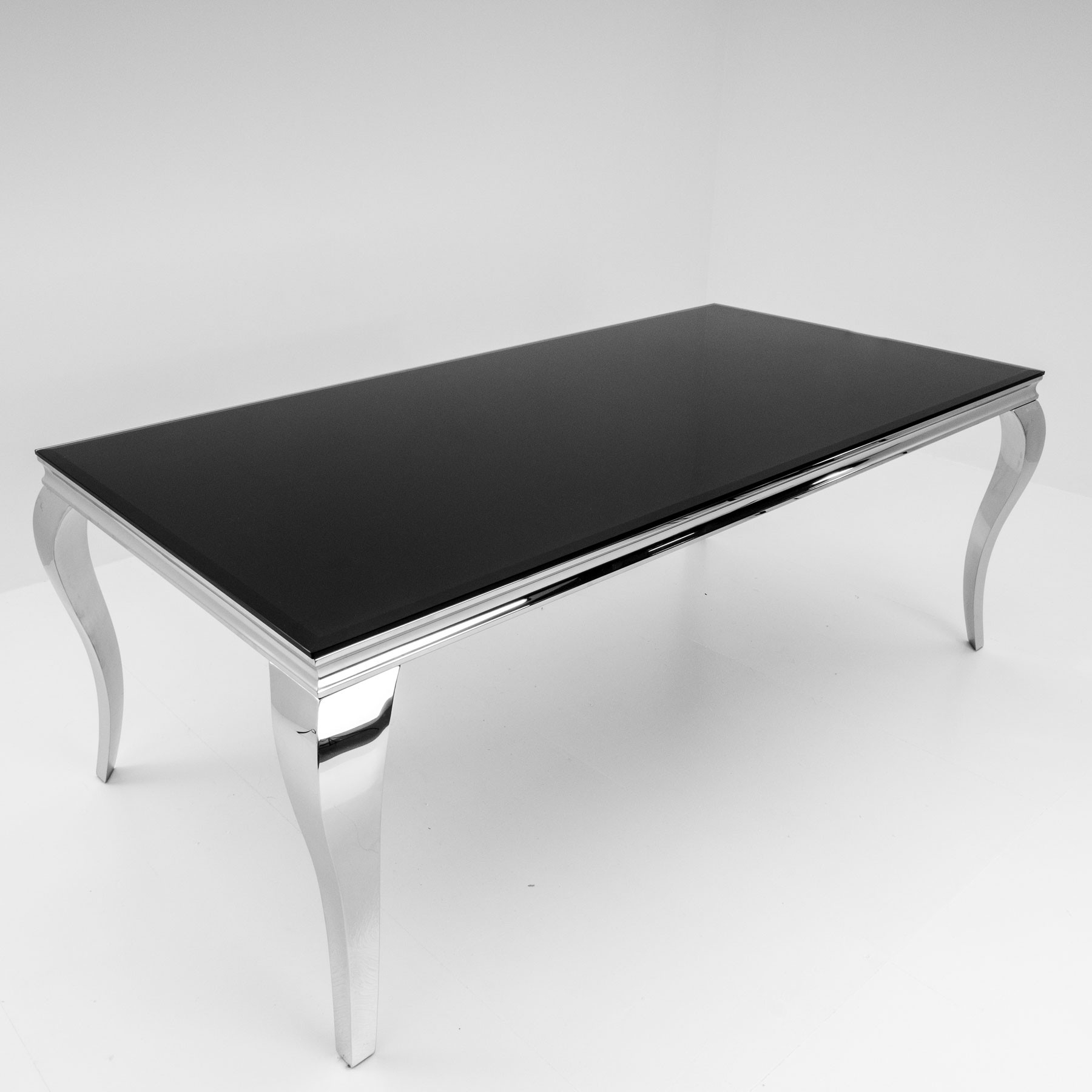 Dining Tables Black Glass In Most Recently Released Louis Black Glass 160Cm Dining Table (View 11 of 25)