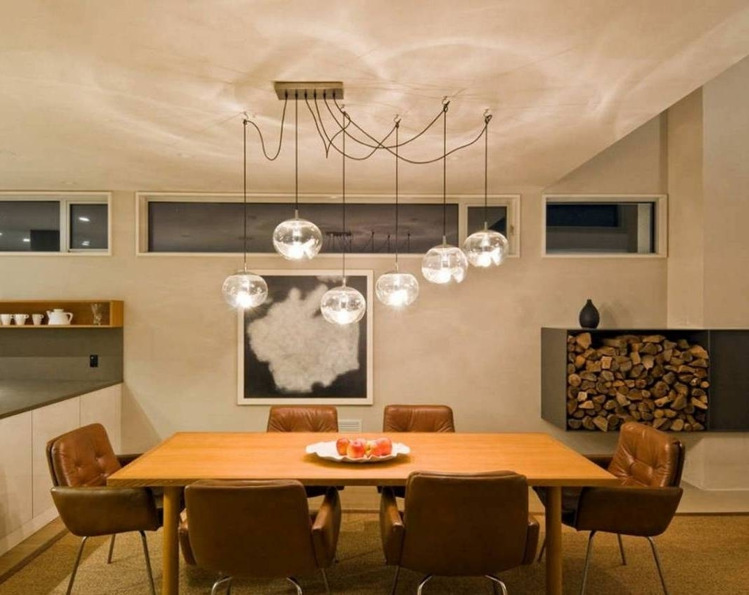 Dining Tables Ceiling Lights throughout Most Recently Released Hanging Dining Table Is Also A Kind Of Over Lighting Light Fixture