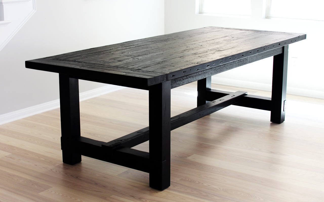 Dining Tables Dark Wood inside Favorite The Most Awesome Dining Table Ever + Imperfection - Design Milk