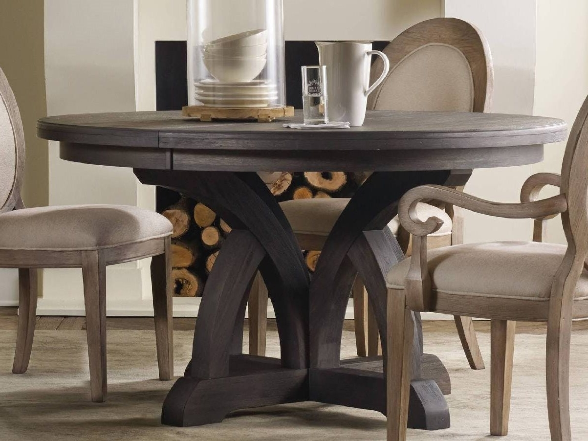 Dining Tables Dark Wood intended for Most Recent Hooker Furniture Corsica Dark Wood 54''wide Round Dining Table