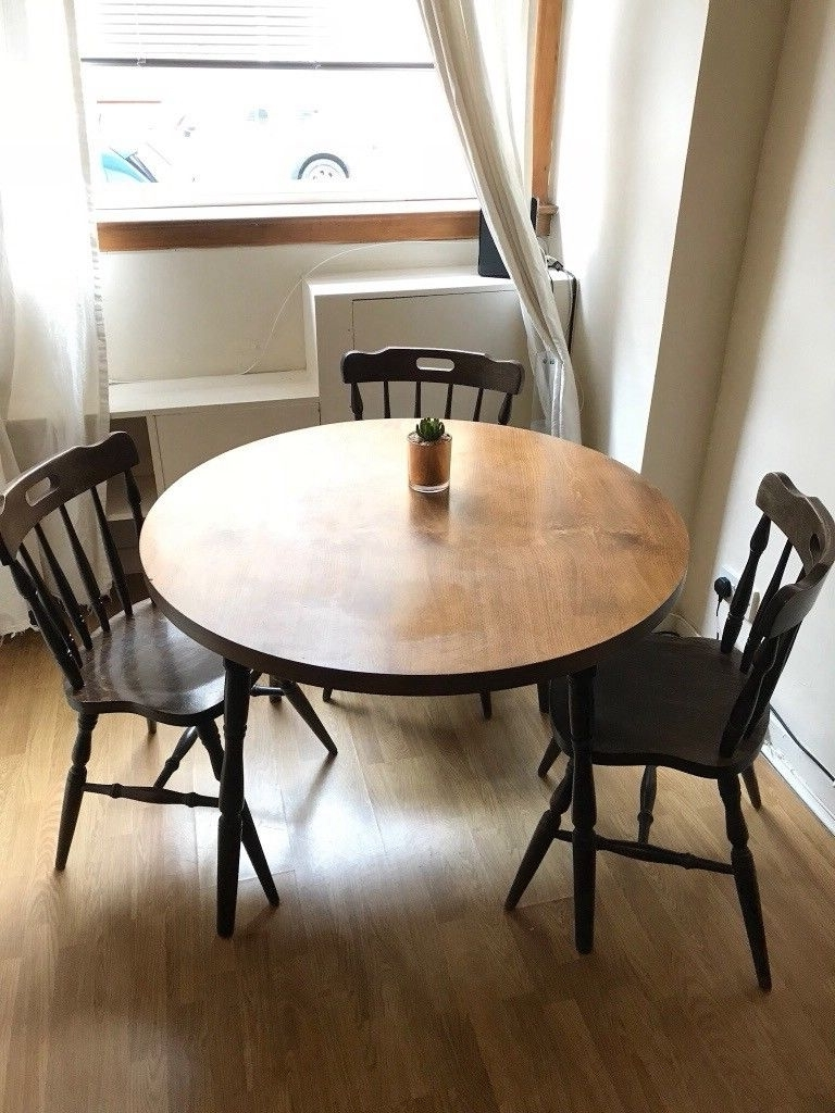 Dining Tables Dark Wood Regarding Most Up To Date Dining Table With Chairs – Dark Wood (View 7 of 25)