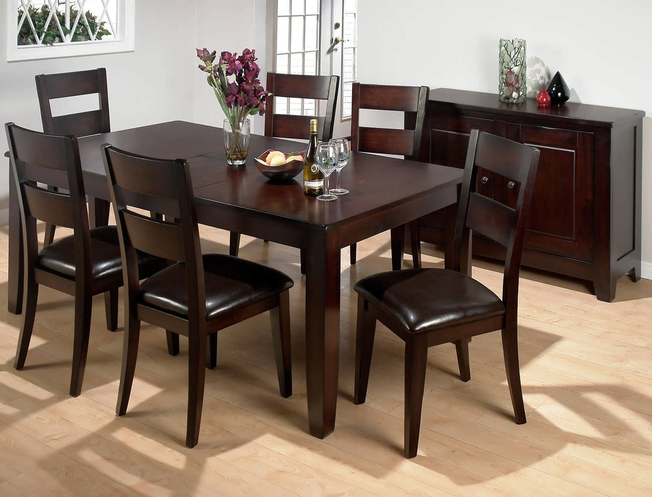 Dining Tables. Extraordinary Tall Square Dining Table: Tall-Square regarding Fashionable Dining Tables And Six Chairs