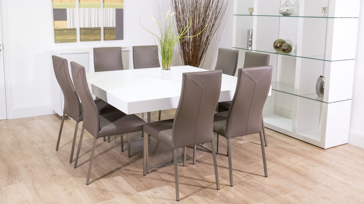 Dining Tables For Eight In Preferred Dining Tables: Interesting Square 8 Person Dining Table Square (Gallery 9 of 25)