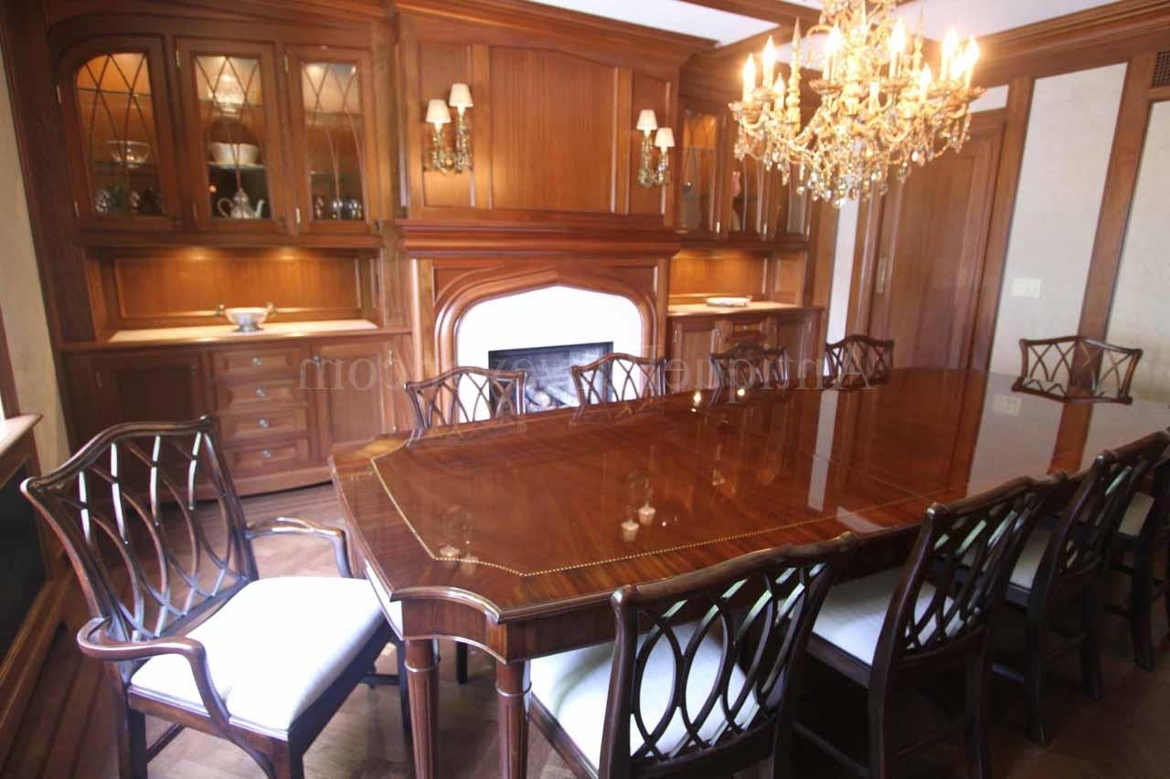 Dining Tables For Eight within Recent Custom American Made French Style 8 Leg Dining Table
