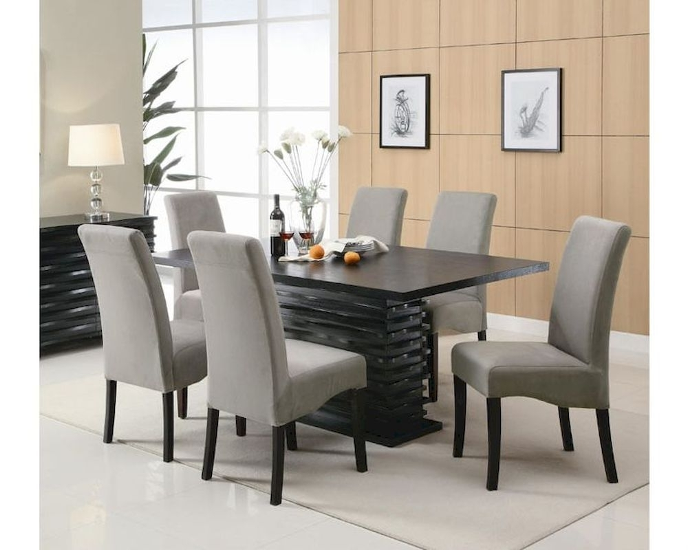 Dining Tables Grey Chairs Regarding Trendy Coaster Stanton Dining Set W/ Grey Chairs Co 102061Gr Set (Gallery 21 of 25)