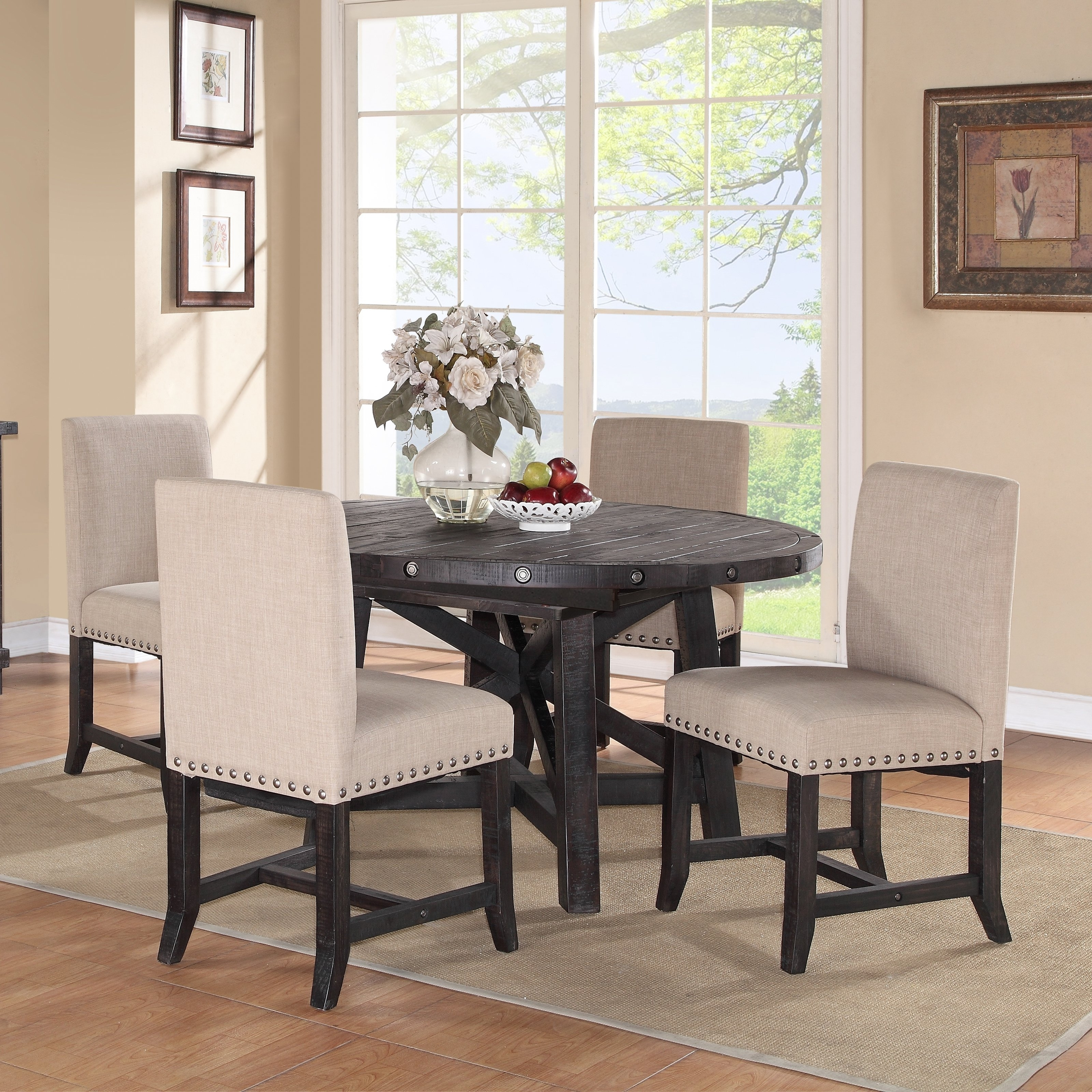 Dining Tables Ideas Throughout Recent Jaxon 7 Piece Rectangle Dining Sets With Upholstered Chairs (View 17 of 25)
