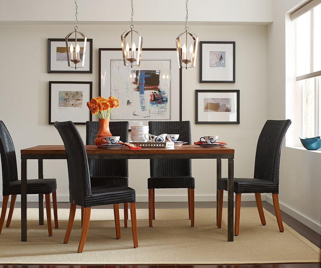 Dining Tables Lights Throughout Preferred Kitchen ~ Small Fireplace Feats Cool Round Hanging Lights Also Glass (Gallery 13 of 25)
