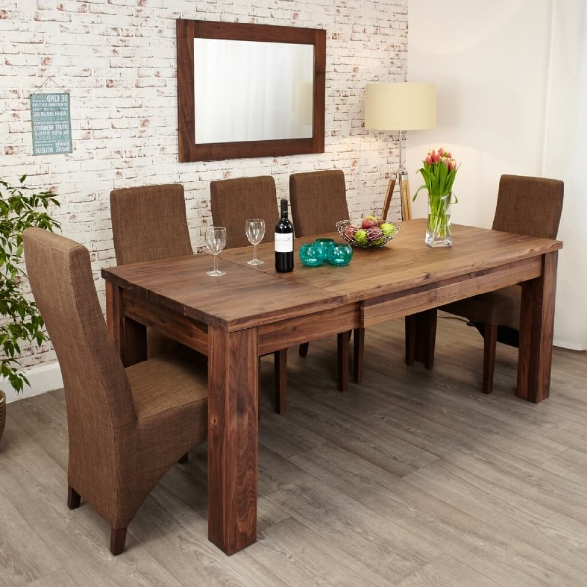 Dining Tables - Mayan Walnut Extending Dining Table Cwc04A within Well known Walnut Dining Tables