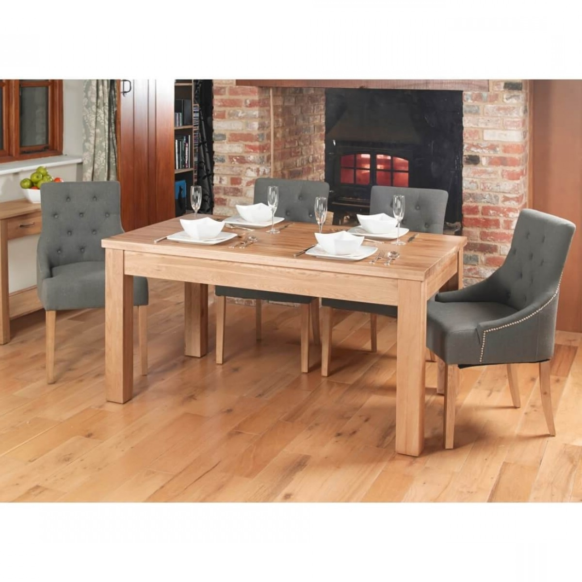 Dining Tables – Mobel Extending Oak Dining Table (4 8 Seater) Cor04E Intended For Most Current 8 Seater Oak Dining Tables (View 15 of 25)