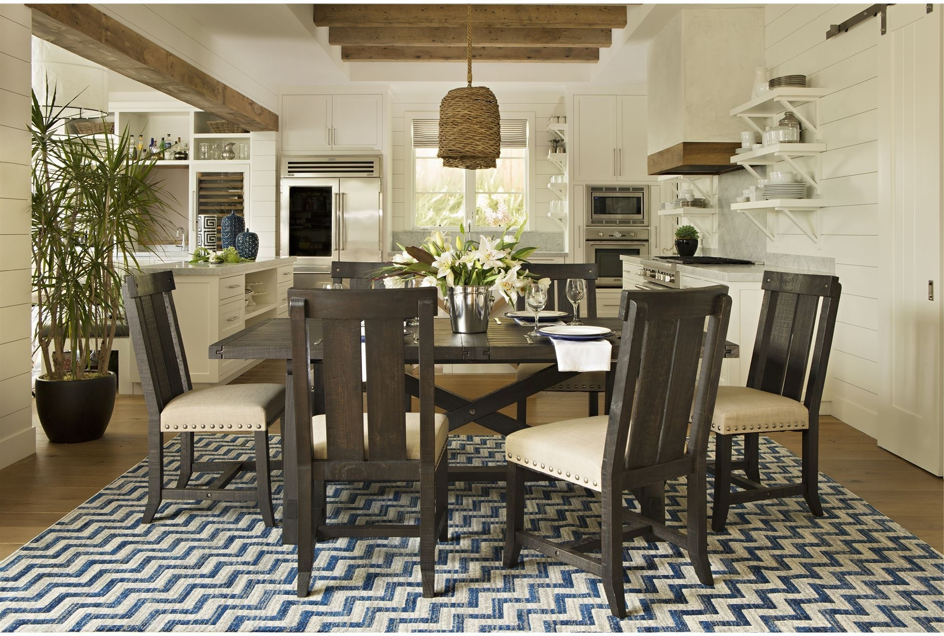 Dining Tables. Remarkable Living Spaces Dining Tables: Jaxon 5 Piece For Current Jaxon Grey 5 Piece Round Extension Dining Sets With Upholstered Chairs (Gallery 23 of 25)