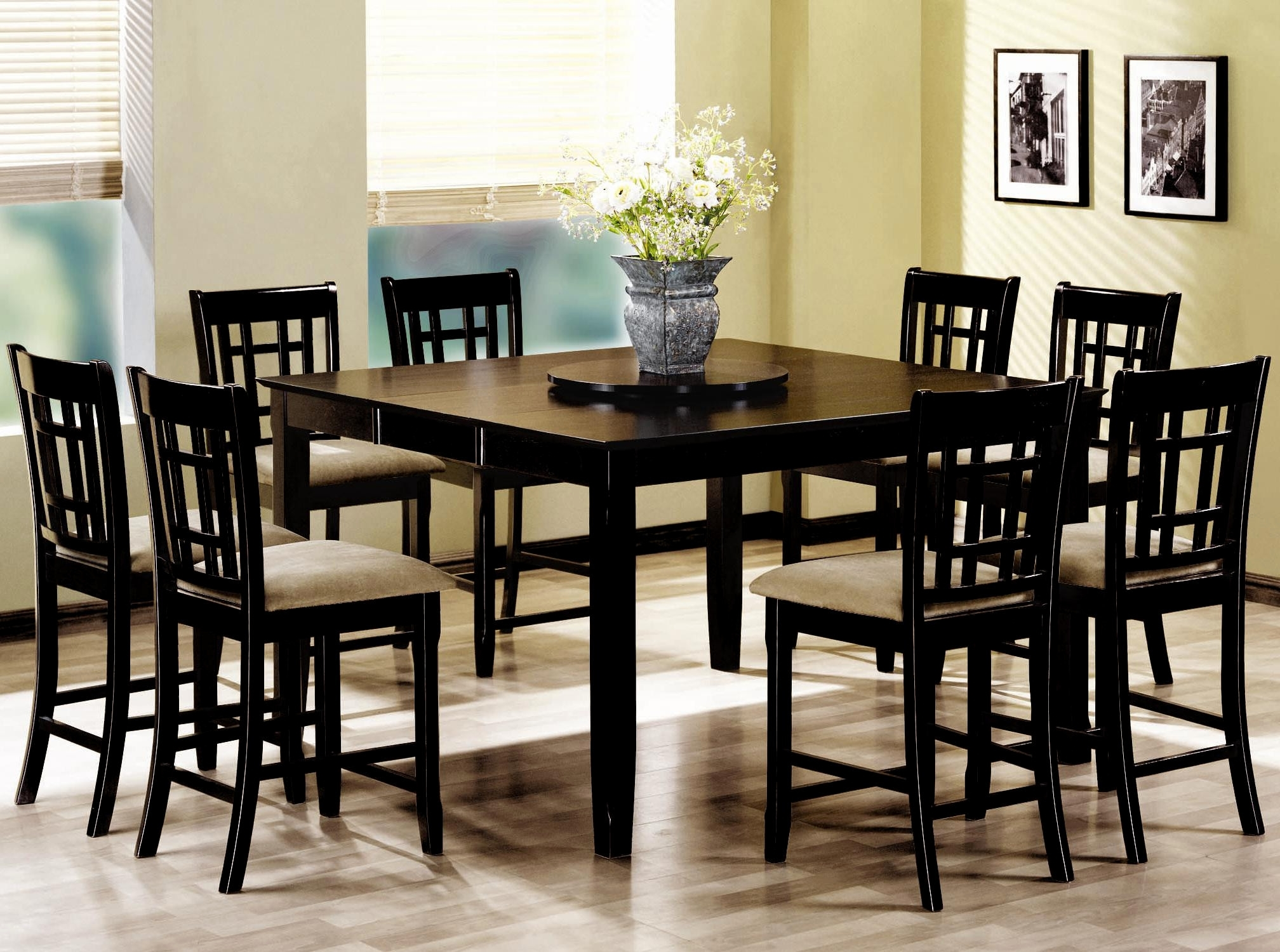 Dining Tables Set For 8 In Fashionable Luxury Round Dining Room Tables Sets For 8 – Round Dining Set For 8 (Gallery 13 of 25)