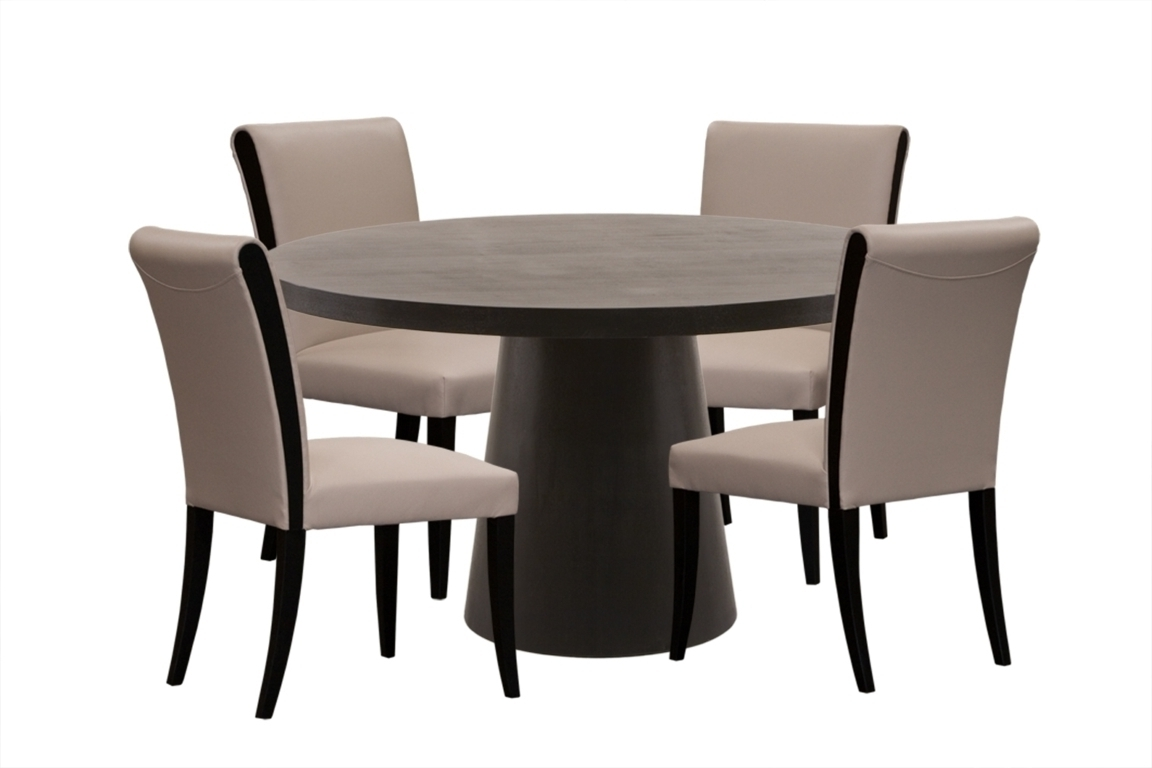 Dining Tables: Stunning Dark Wood Round Dining Table Round Dining Intended For Most Up To Date Small Dark Wood Dining Tables (View 6 of 25)