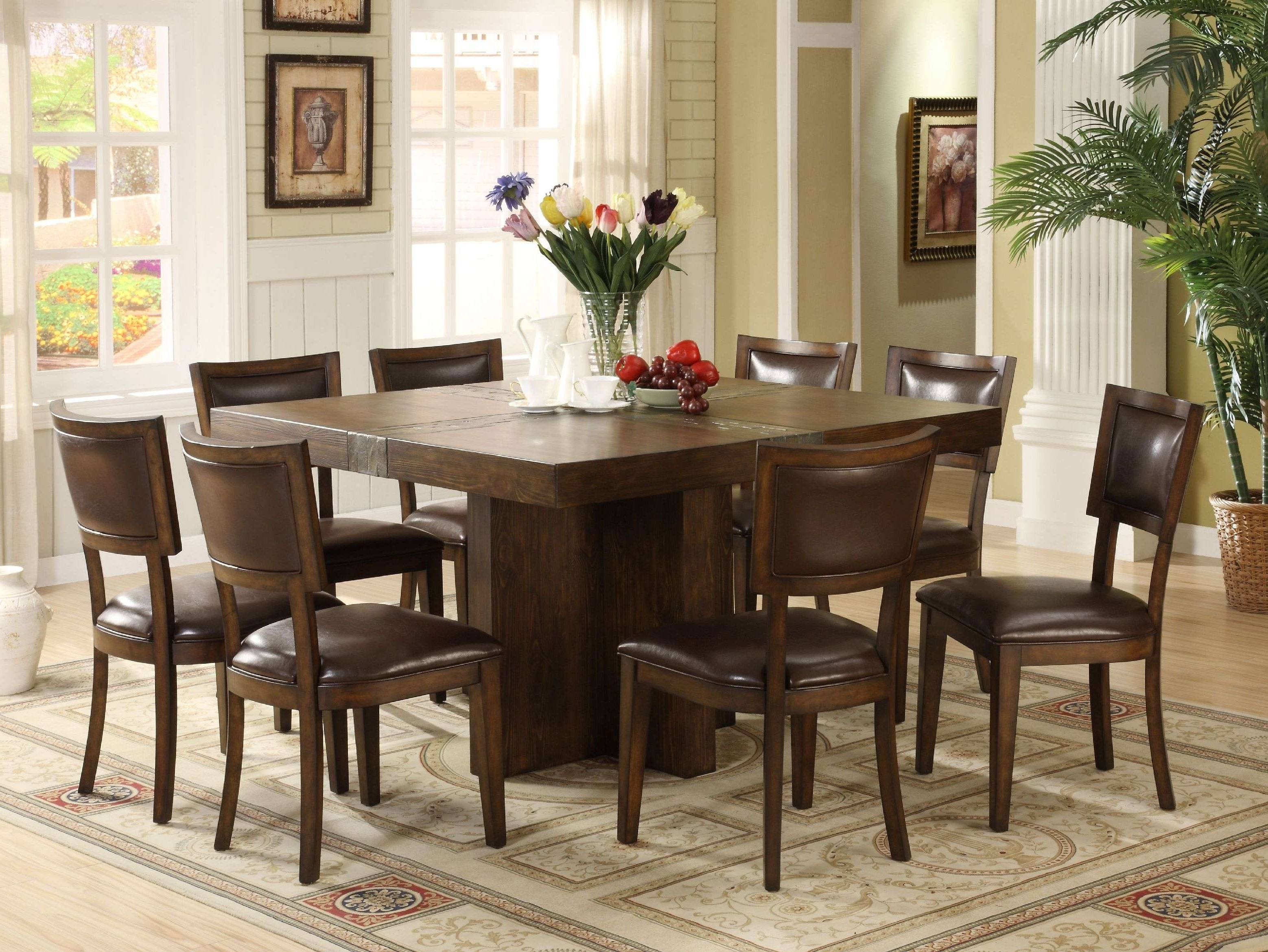 Dining Tables With 8 Chairs regarding Well known Solid Oak Dining Room Table And 8 Chairs New Ashley Counter Height