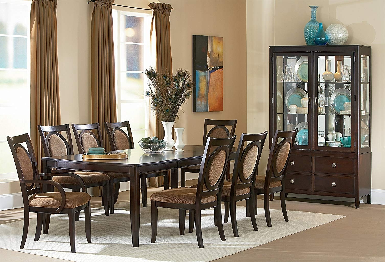 Dining Tables With 8 Chairs Within Most Popular Amazon – Steve Silver Company Montblanc Table With Two  (View 3 of 25)