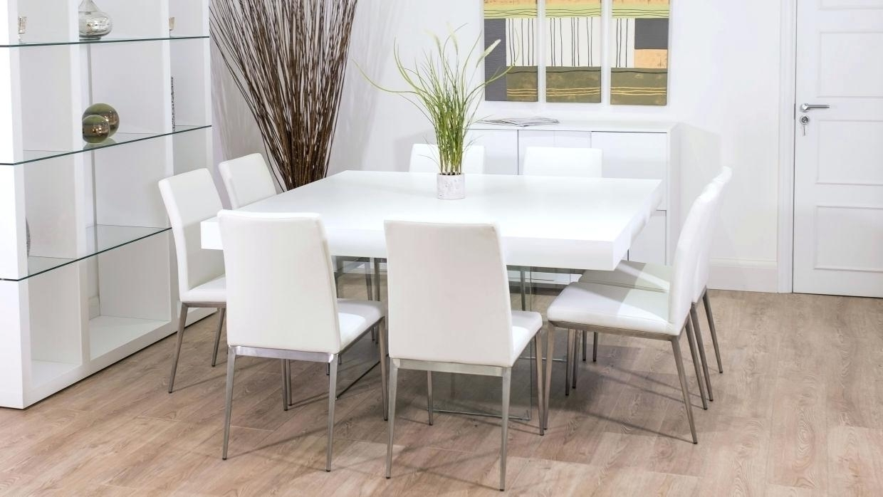 Dining Tables With 8 Seater In Most Up To Date Decoration: 8 Seater Square Dining Table (View 18 of 25)
