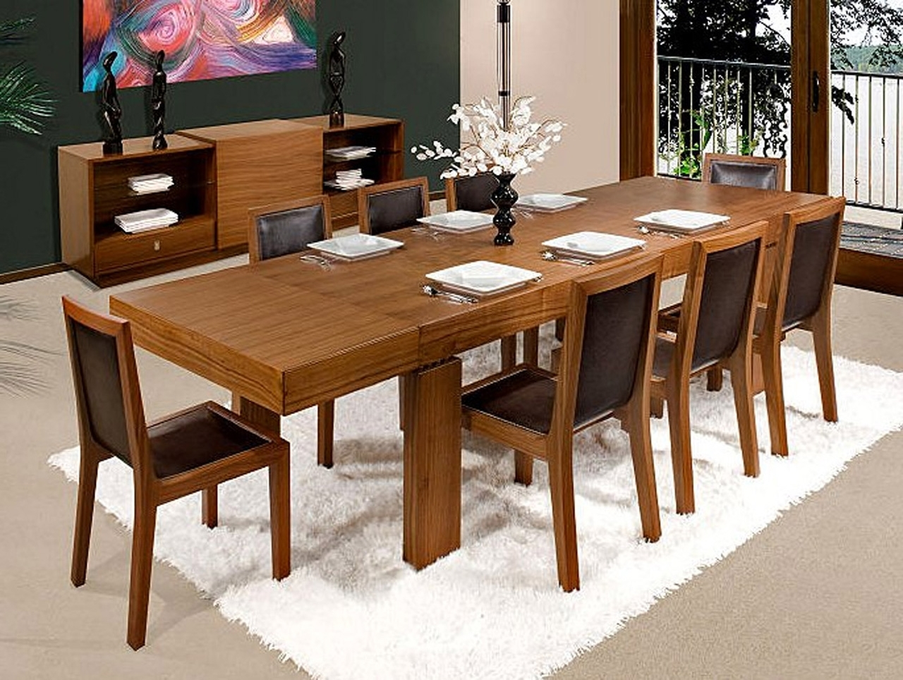 Dining Tables With 8 Seater Regarding Latest Square Dining Table For 8 Dimensions In Smashing 8 Seat Table Large (Gallery 24 of 25)