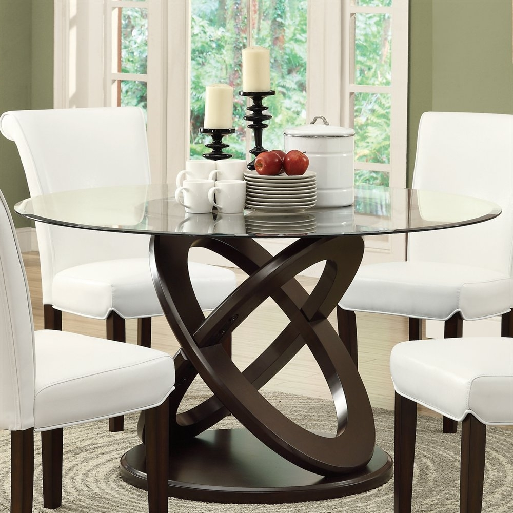 Dining Tables with Best and Newest Monarch Specialties I 1749 Olympic Ring Style Dining Table