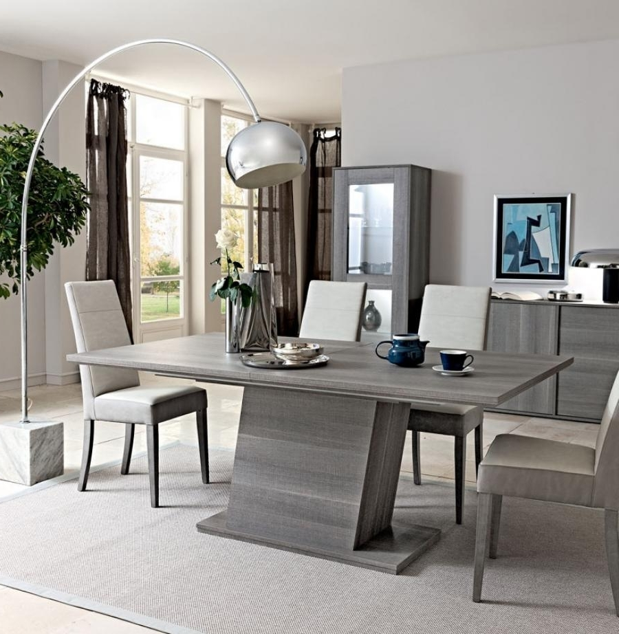 Dining Tables With Grey Chairs Inside Favorite Classy Grey Dining Table Color — The Home Redesign (View 4 of 25)