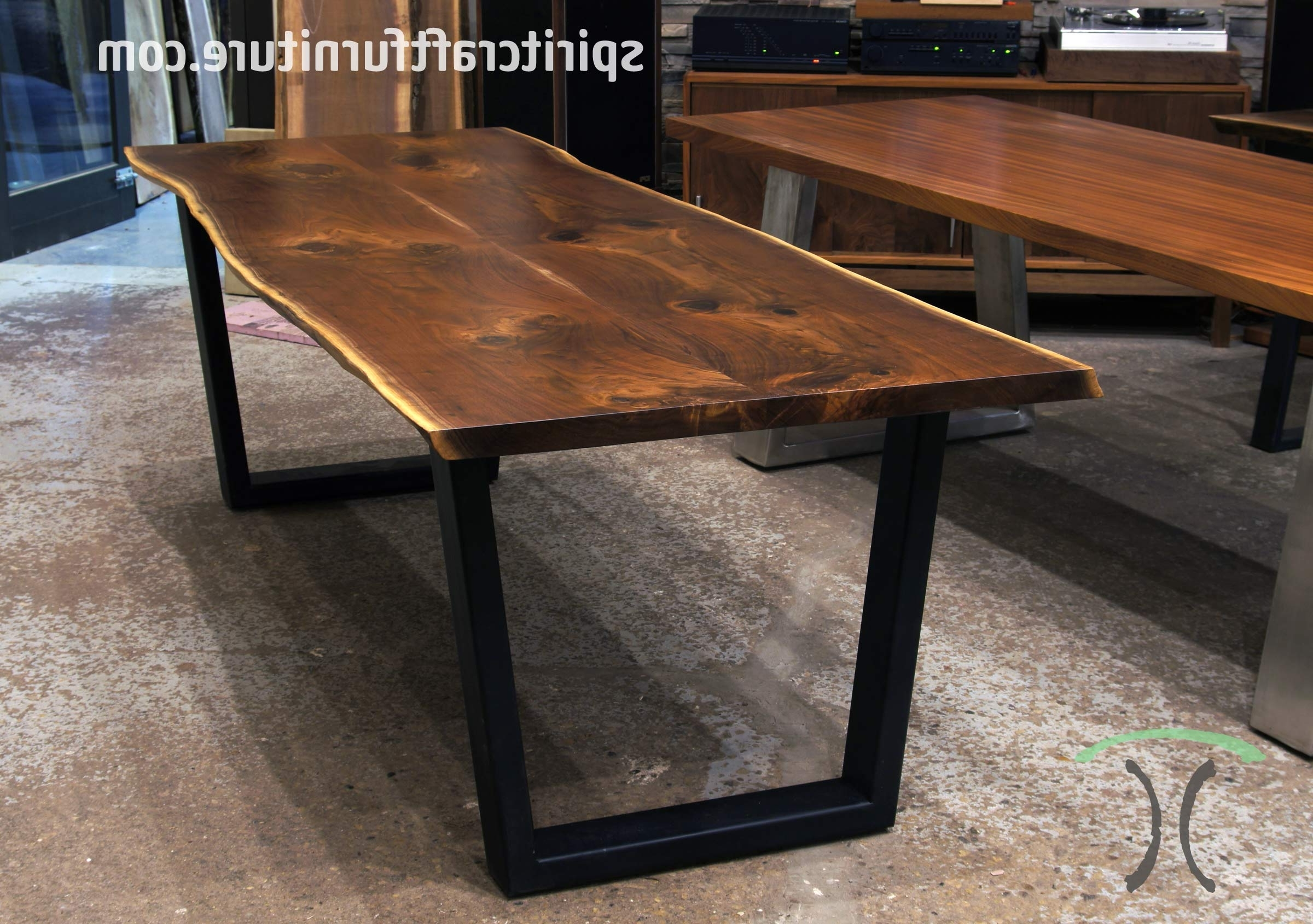 Dining Tables With Large Legs Within Best And Newest Live Edge Slab Dining Tables, Walnut Slabs And Tops (Gallery 19 of 25)